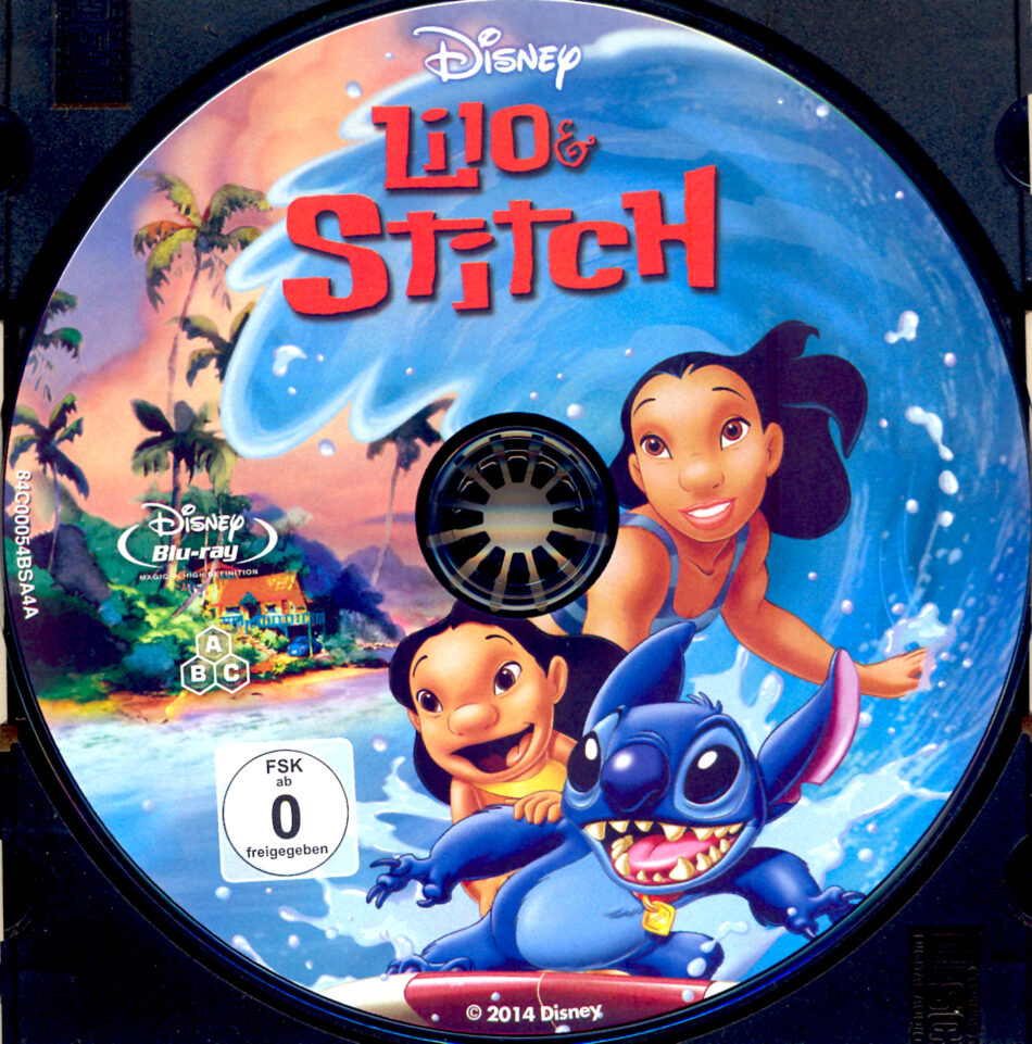 Lilo Stitch Blu Ray Label 2002 R2 German