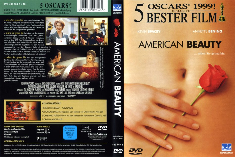 American Beauty Dvd Cover 1999 R2 German