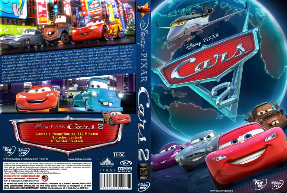 Cars 2 Dvd Covers 2011 R2 German Custom