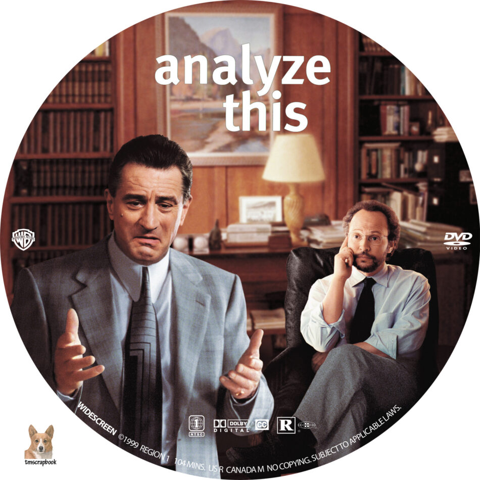Analyze This Dvd Label 1999 R1 Custom