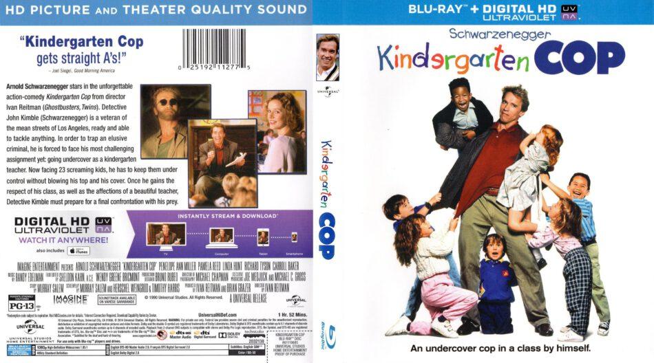 Kindergarten Cop Blu Ray Cover Label 1990 R1