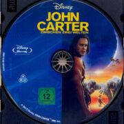 John Carter: Zwischen zwei Welten (2012) R2 German Blu-Ray Label