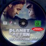 Planet der Affen: Revolution (2014) R2 German Blu-Ray Label