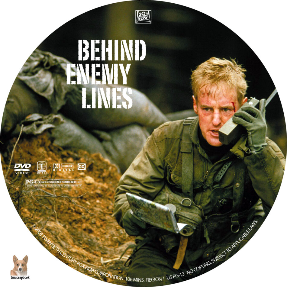 Behind Enemy Lines dvd label (2001) R1 Custom