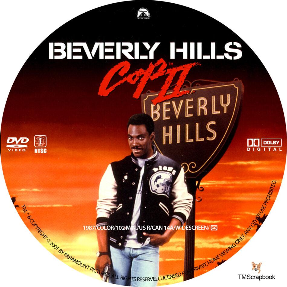 Beverly Hills Cop Ii Dvd Label 1987 R1 Custom