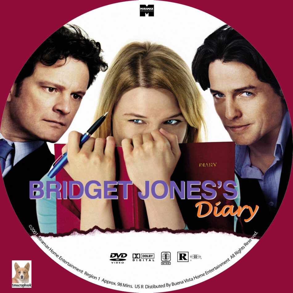 Bridget Jones S Diary Dvd Label 2001 R1 Custom