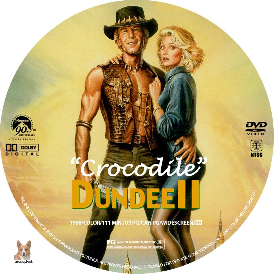 Crocodile Dundee Ii Dvd Label 1988 R1 Custom
