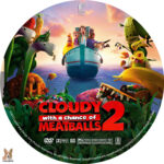 Cloudy with a Chance of Meatballs 2 (2013) R1 Custom Labels