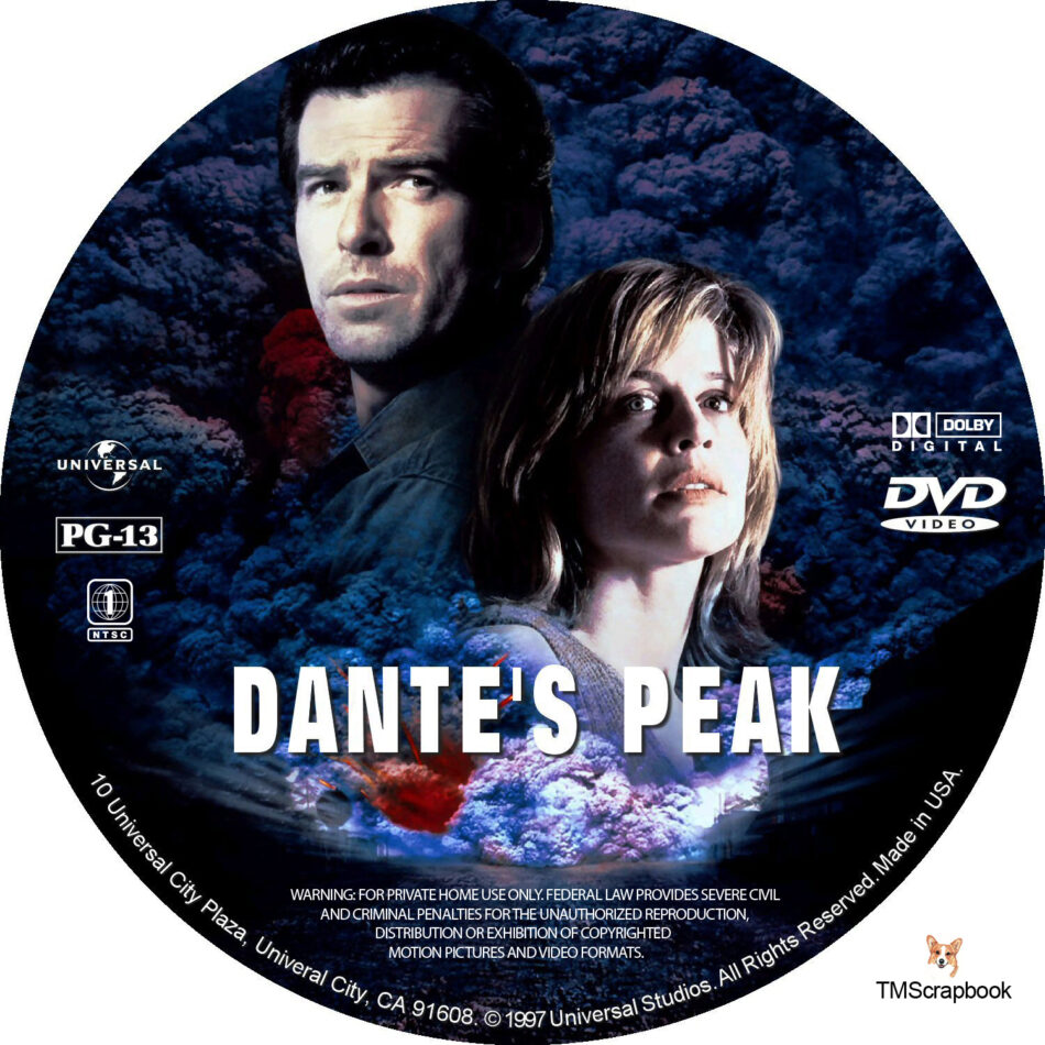 Dante S Peak Dvd Label 1997 R1 Custom