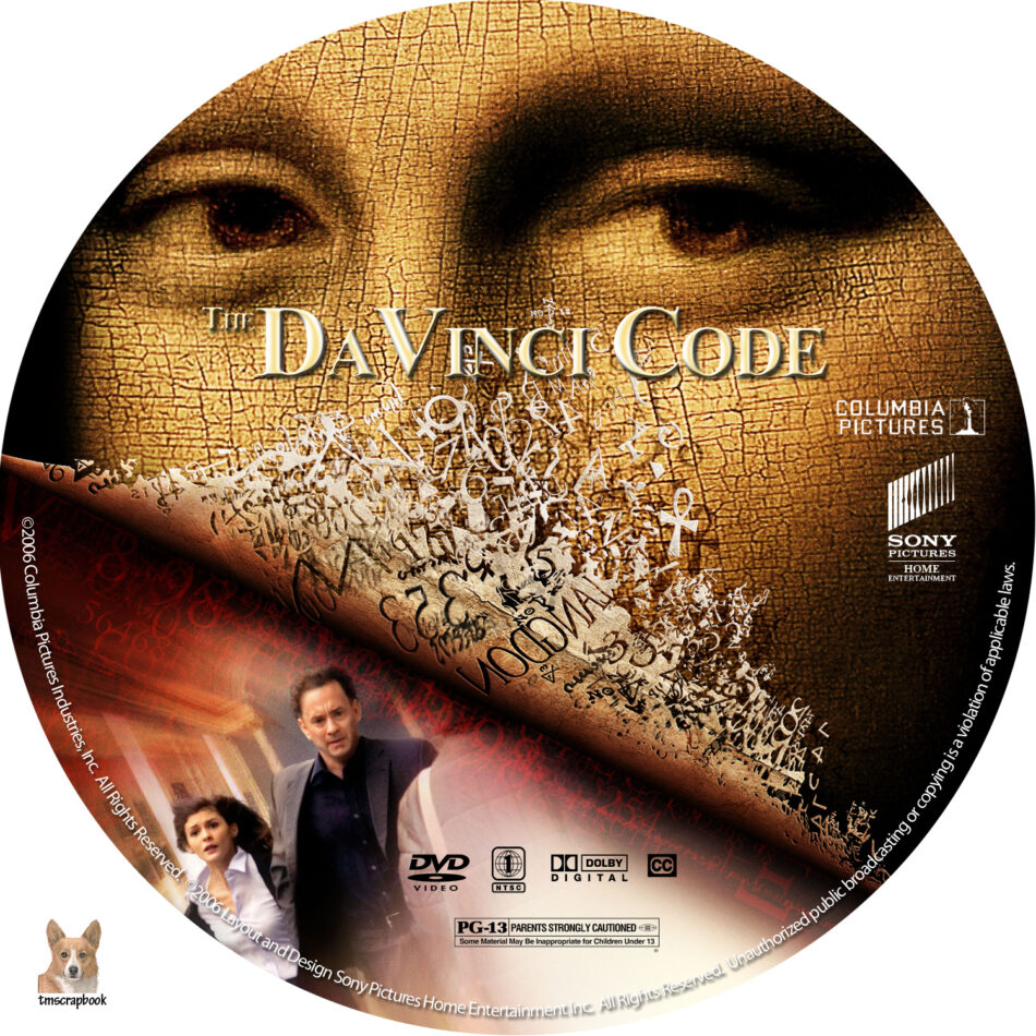 The Davinci Code Dvd Label 2006 R1 Custom