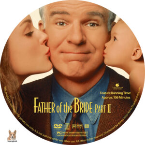 father of the bride part ii dvd labels 1995 r1 custom