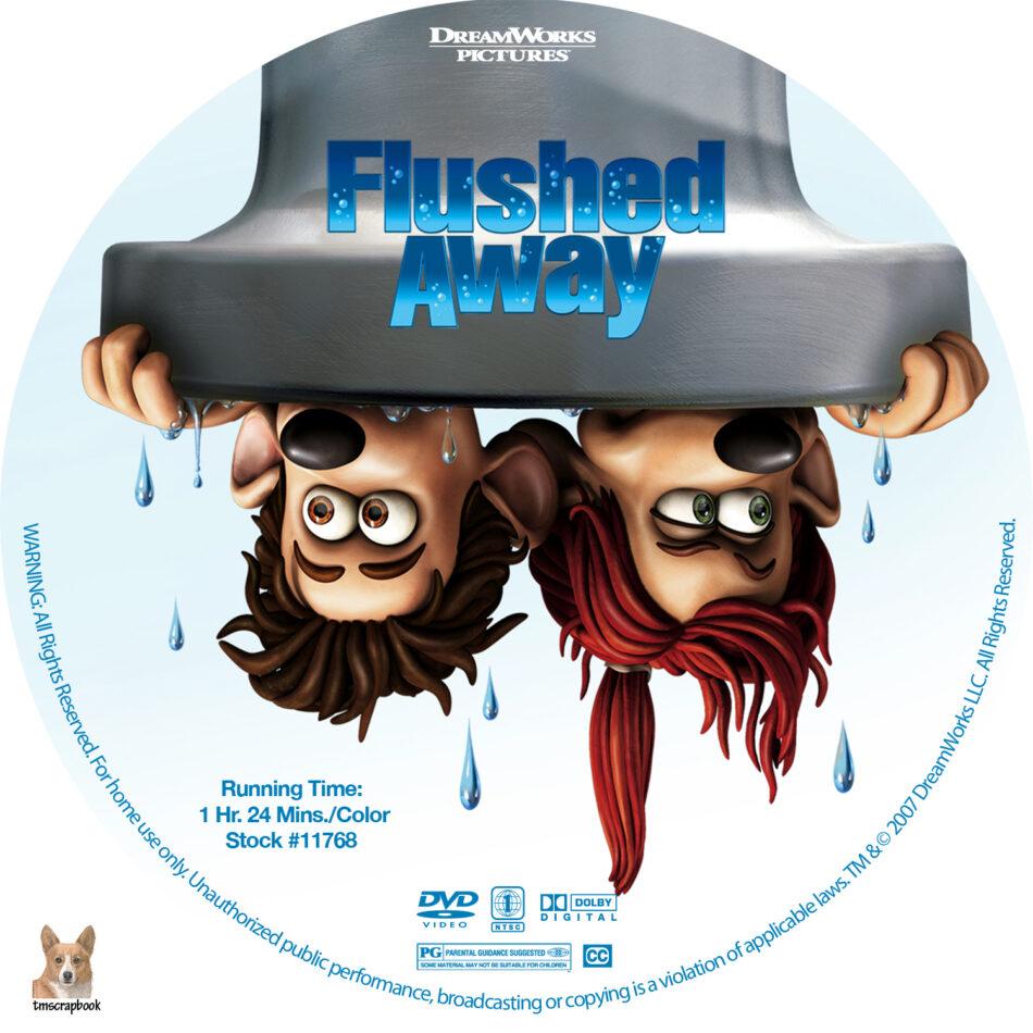 Flushed Away Dvd Labels 2006 R1 Custom