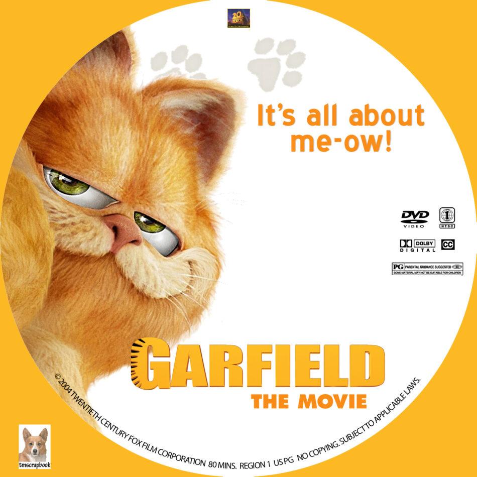 Garfield The Movie Dvd Label 2004 R1 Custom