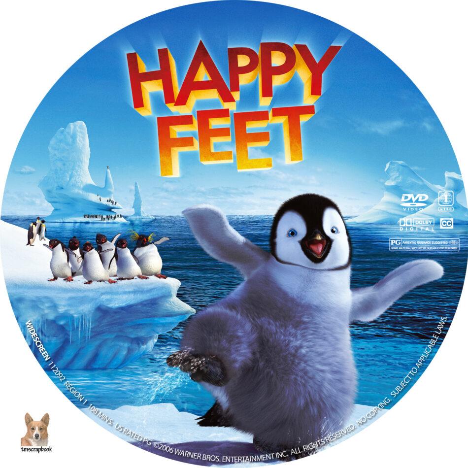 Happy Feet Dvd Labels 2006 R1 Custom