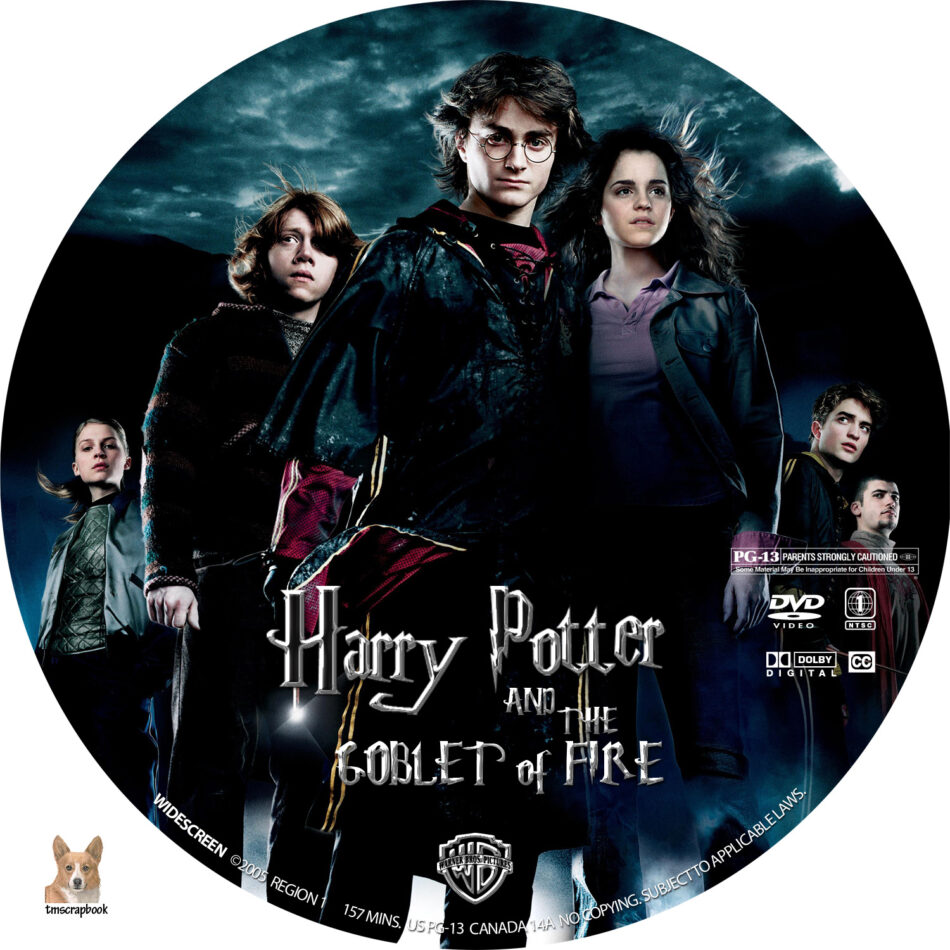 Harry Potter And The Goblet Of Fire Dvd Labels 2005 R1 Custom
