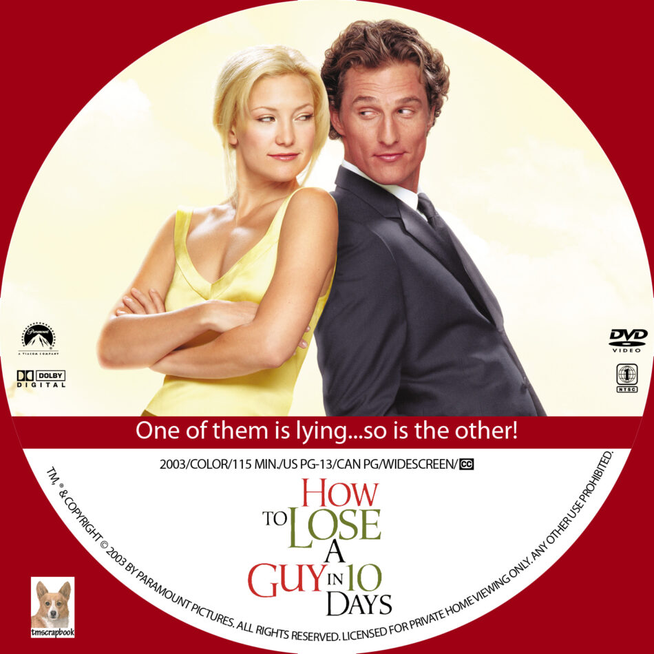 How To Lose A Guy In 10 Days Dvd Label 2003 R1 Custom