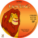 The Lion King (1994) R1 Custom Labels