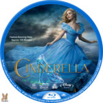 Cinderella (2015) R1 Custom Blu-Ray Label
