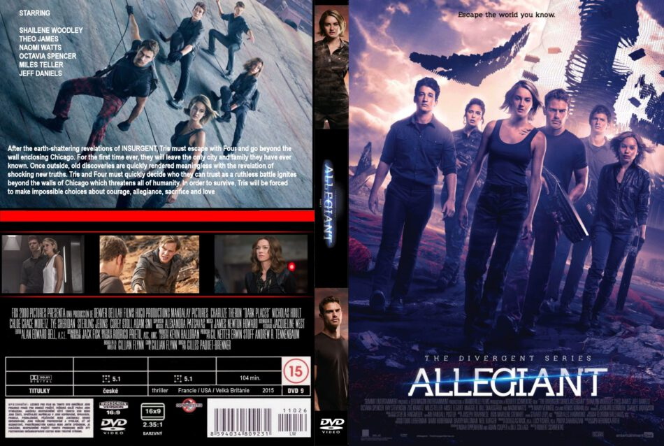 Allegiant Dvd Cover Label 2016 R0 Custom