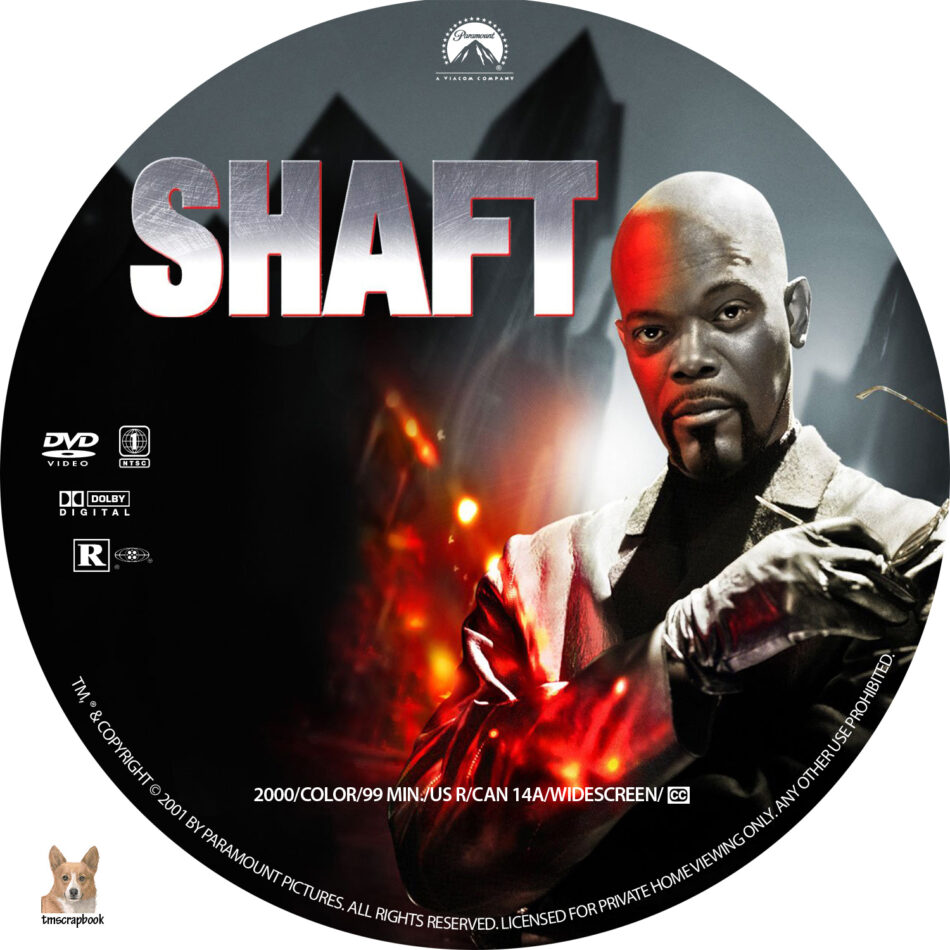 shaft dvd label  2000  r1 custom