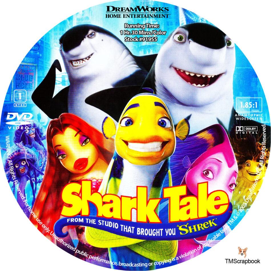 Shark Tale Dvd Label 2004 R1 Custom