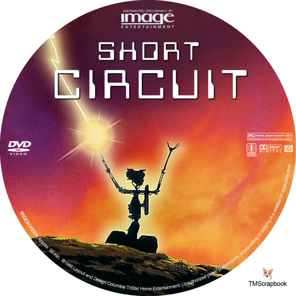 short circuit dvd label  1986  r1 custom