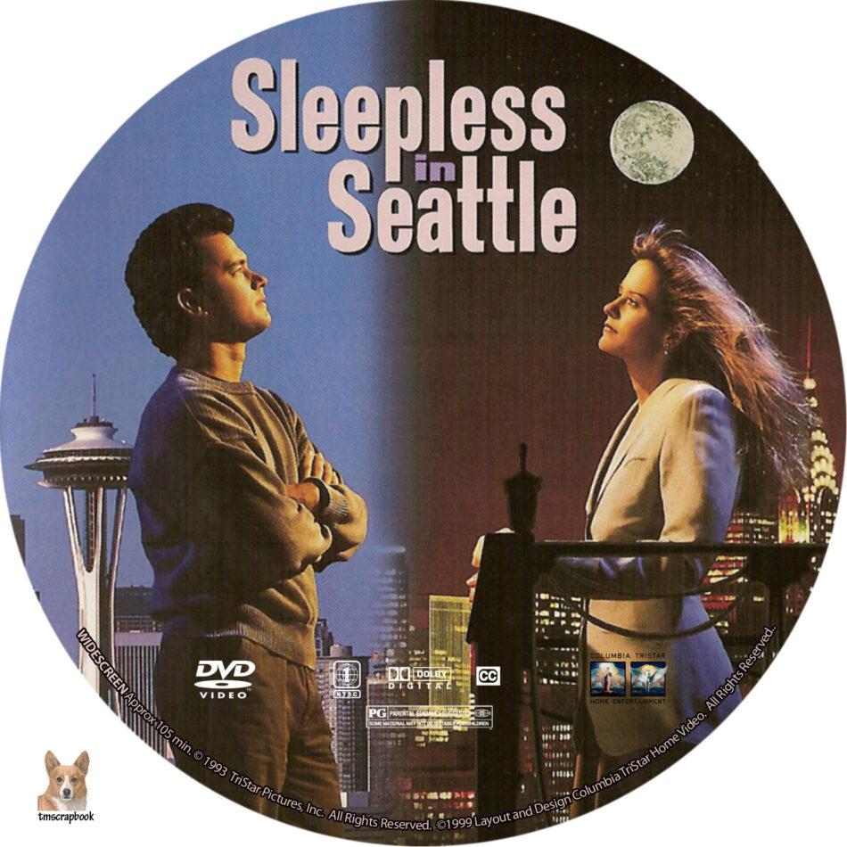 Sleepless In Seattle Dvd Labels 1993 R1 Custom