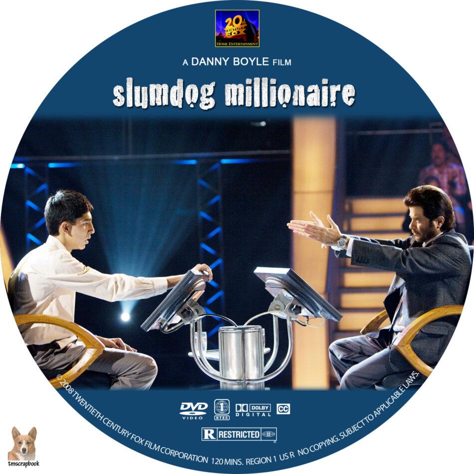 Slumdog Millionaire Dvd Label 2008 R1 Custom