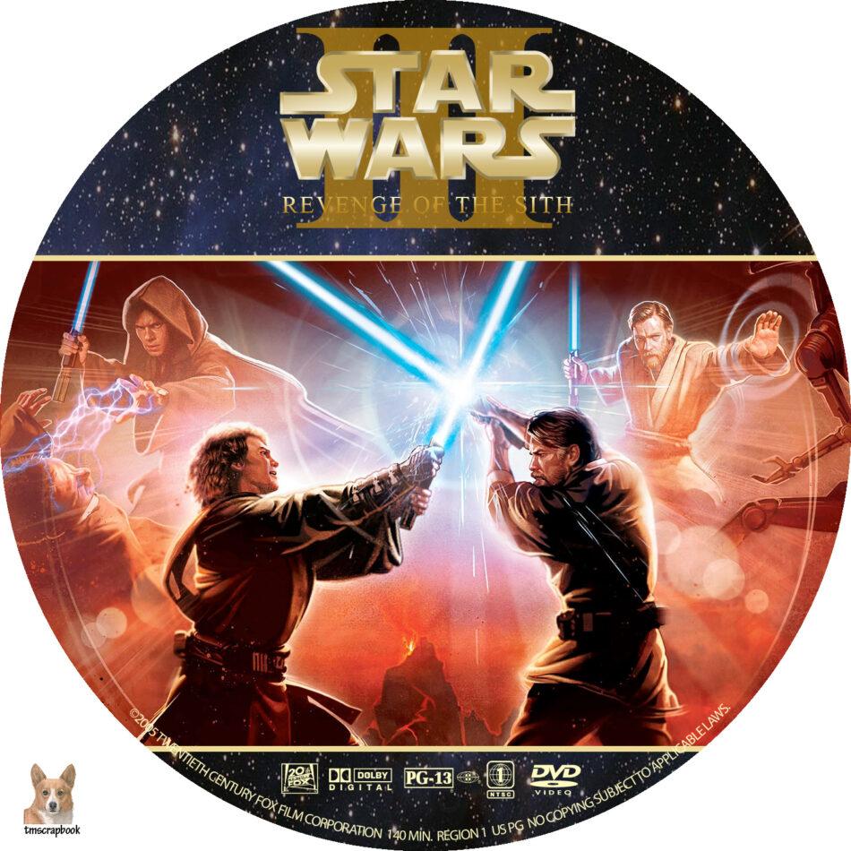 Star Wars Iii Revenge Of The Sith Dvd Label 2005 R1 Custom