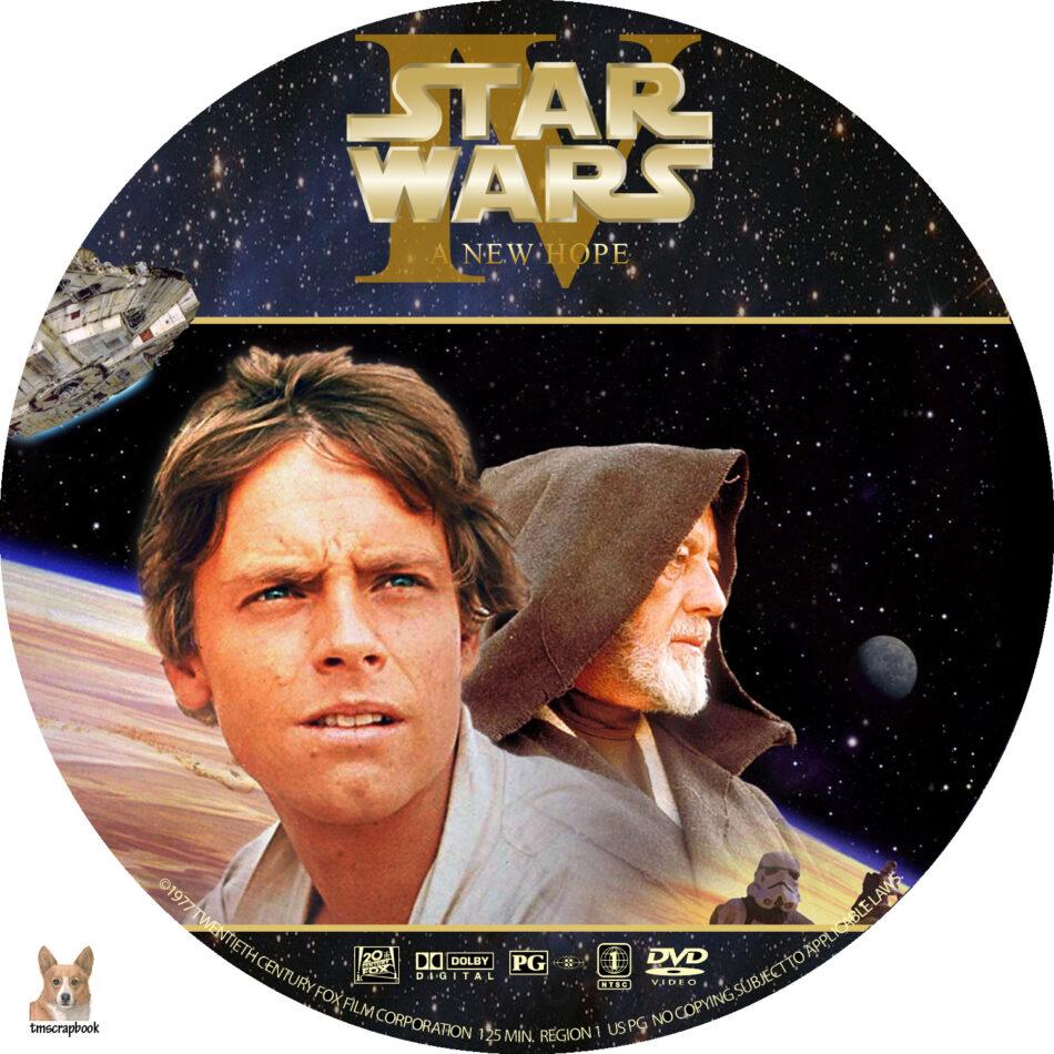 Star Wars Iv A New Hope Dvd Label 1977 R1 Custom