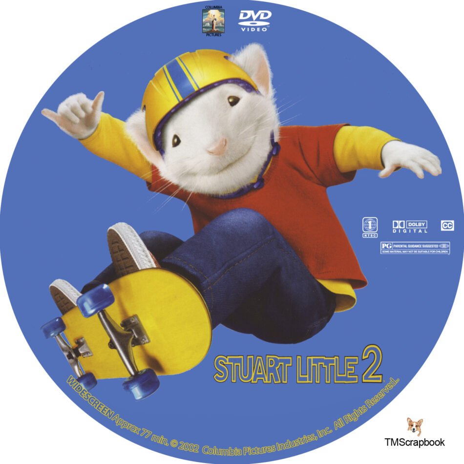 Stuart Little 2 Dvd Label 2002 R1 Custom