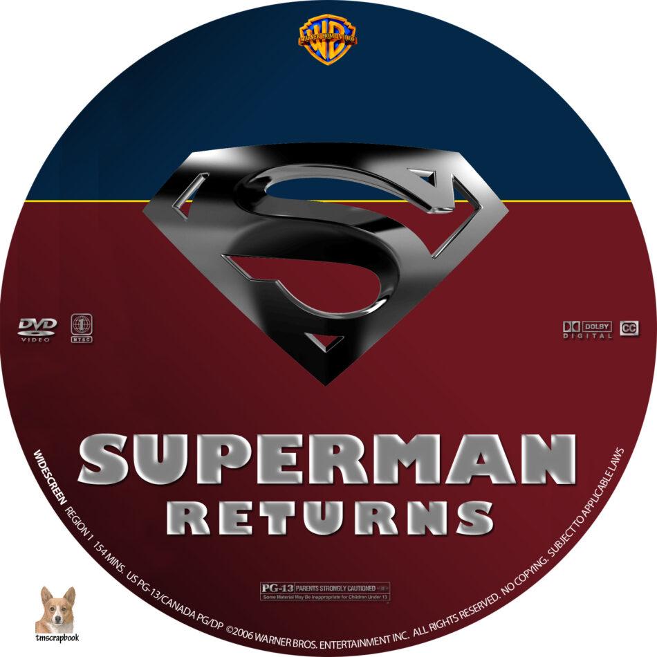 Superman Returns dvd label (2006) R1 Custom