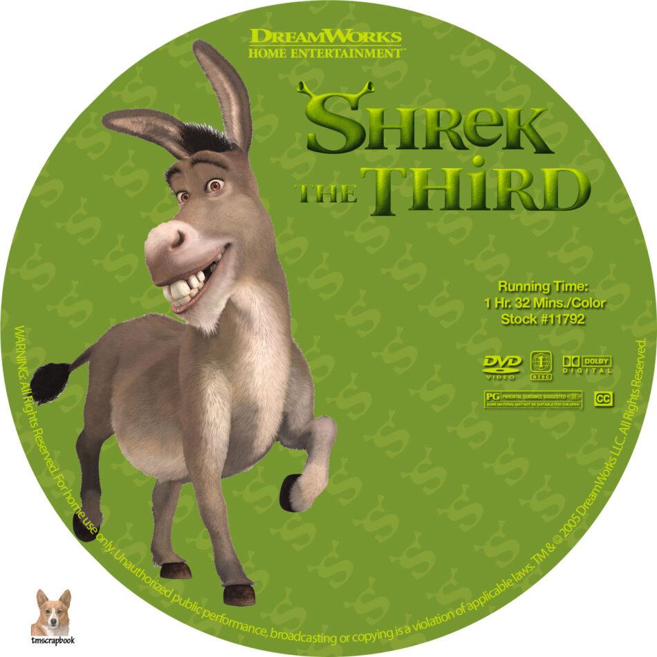 Shrek The Third Dvd Labels 2007 R1 Custom