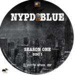 NYPD Blue – Season 1 (1993) R1 Custom Labels
