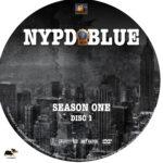 NYPD Blue – Season 1 (1993) R1 Custom Labels