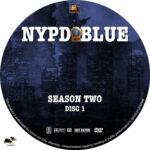 NYPD Blue – Season 2 (1994) R1 Custom Labels