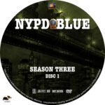 NYPD Blue – Season 3 (1995) R1 Custom Labels