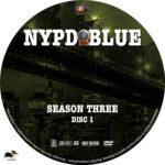 NYPD Blue – Season 3 (1995) R1 Custom Labels