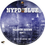 NYPD Blue – Season 7 (2000) R1 Custom Labels