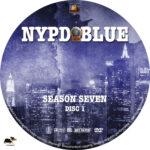 NYPD Blue – Season 7 (2000) R1 Custom Labels