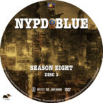NYPD Blue - Season 8 (2001) R1 Custom Labels