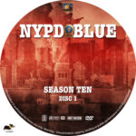 NYPD Blue – Season 10 (2002) R1 Custom Labels