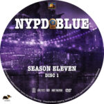 NYPD Blue – Season 11 (2003) R1 Custom Labels