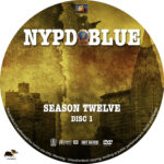 NYPD Blue – Season 12 (2004) R1 Custom Labels