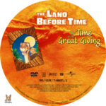 The Land Before Time: The Time of the Great Giving (1995) R1 Custom label