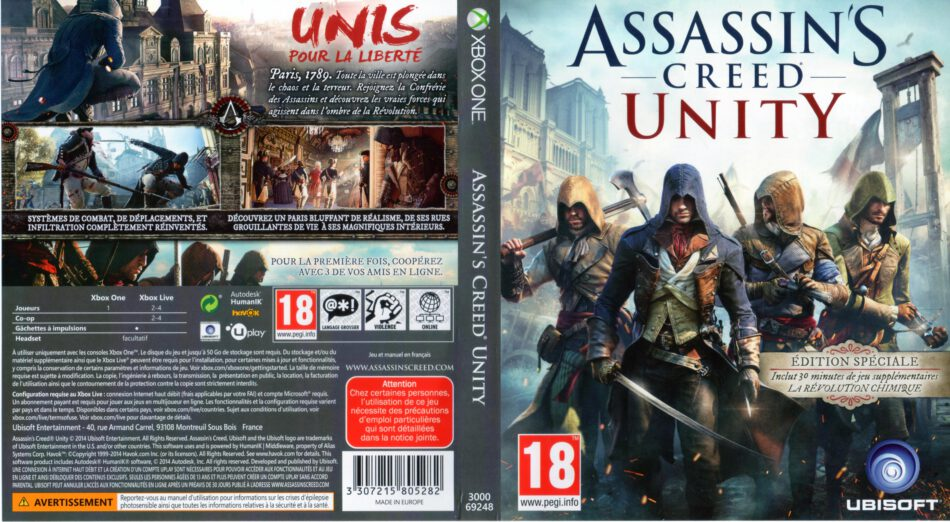 Assassin S Creed Unity Special Edition Dvd Cover 2014 Xbox One