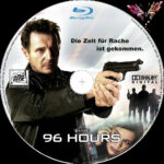 96 Hours (2008) R2 German Custom Blu-Ray Label