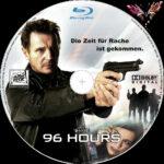 96 Hours (2008) R2 German Custom Blu-Ray Label