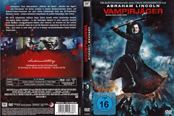 Abraham Lincoln Vampirjäger (2012) R2 German Cover