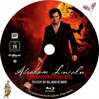 Abraham Lincoln Vampirjäger (2012) R2 German Custom Blu-Ray Label